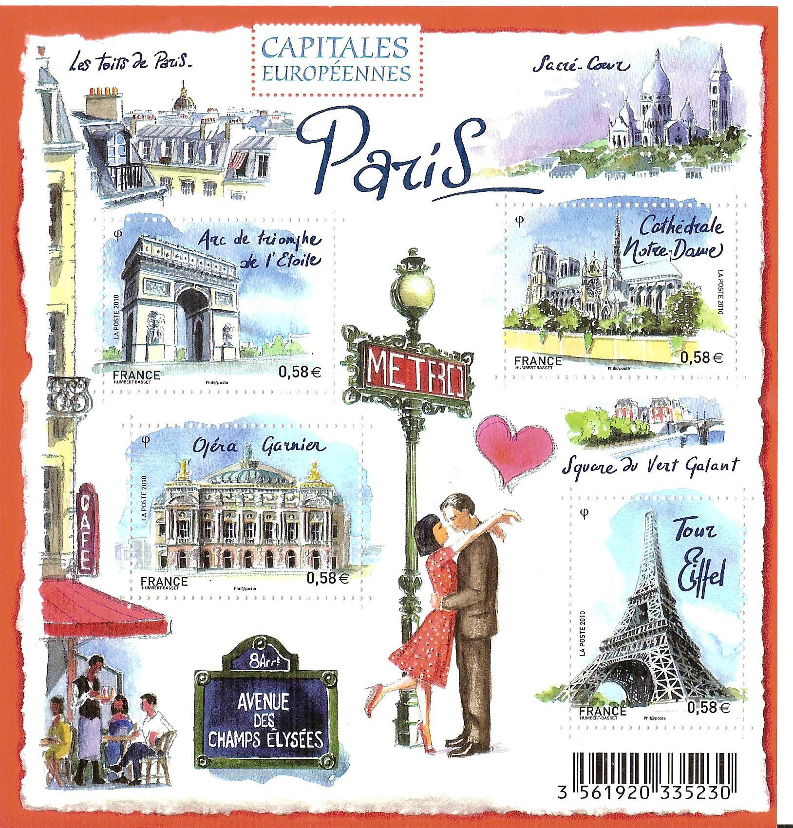 French Stamps: Paris, Budapest, And Copenhagen
